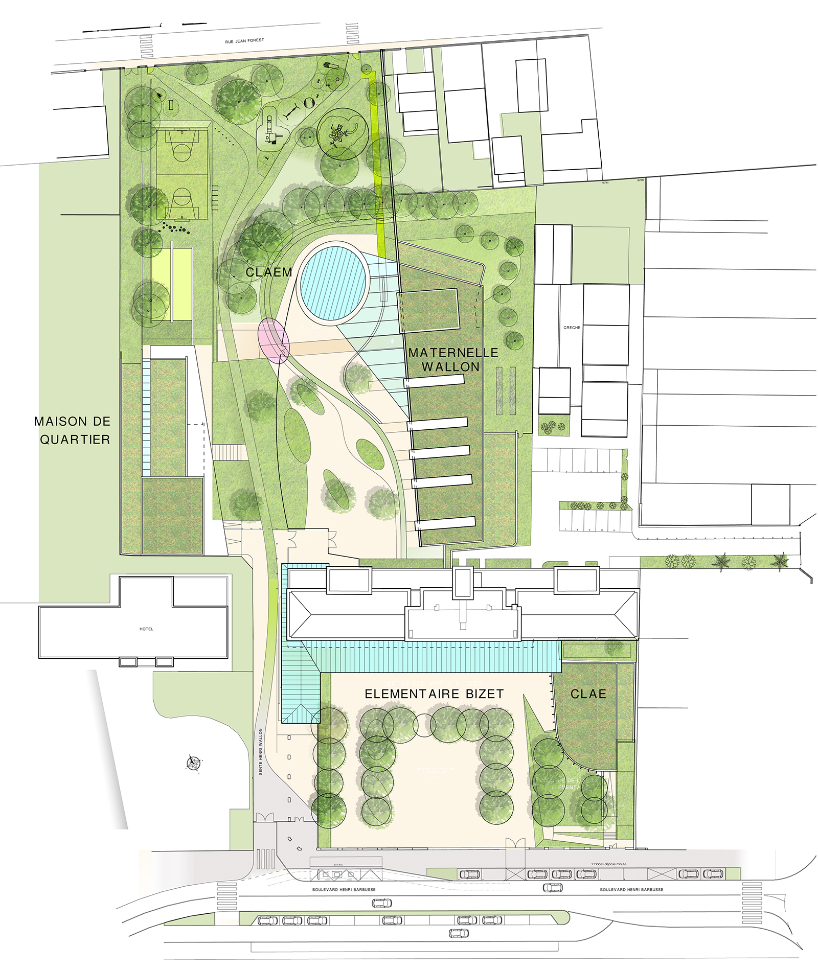 Plan masse St Cyr