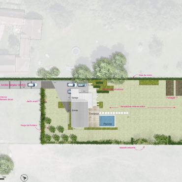 plan projet jardin particulier templeuve