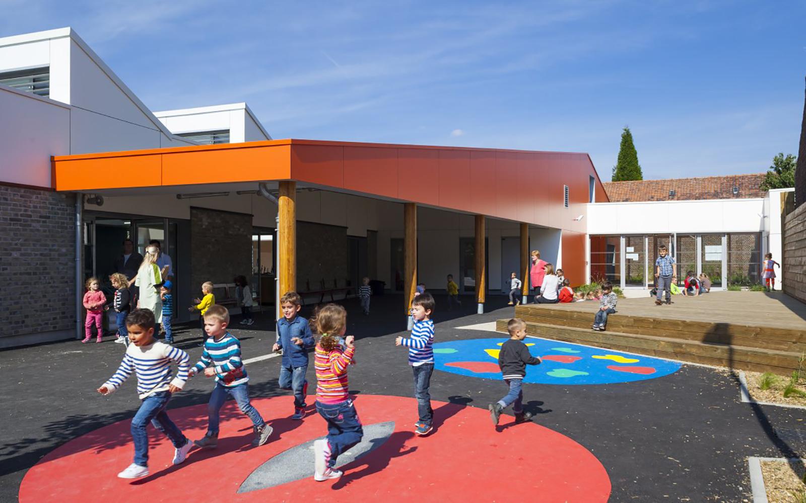 école duclos lanoy waziers cours récréation projet travaux