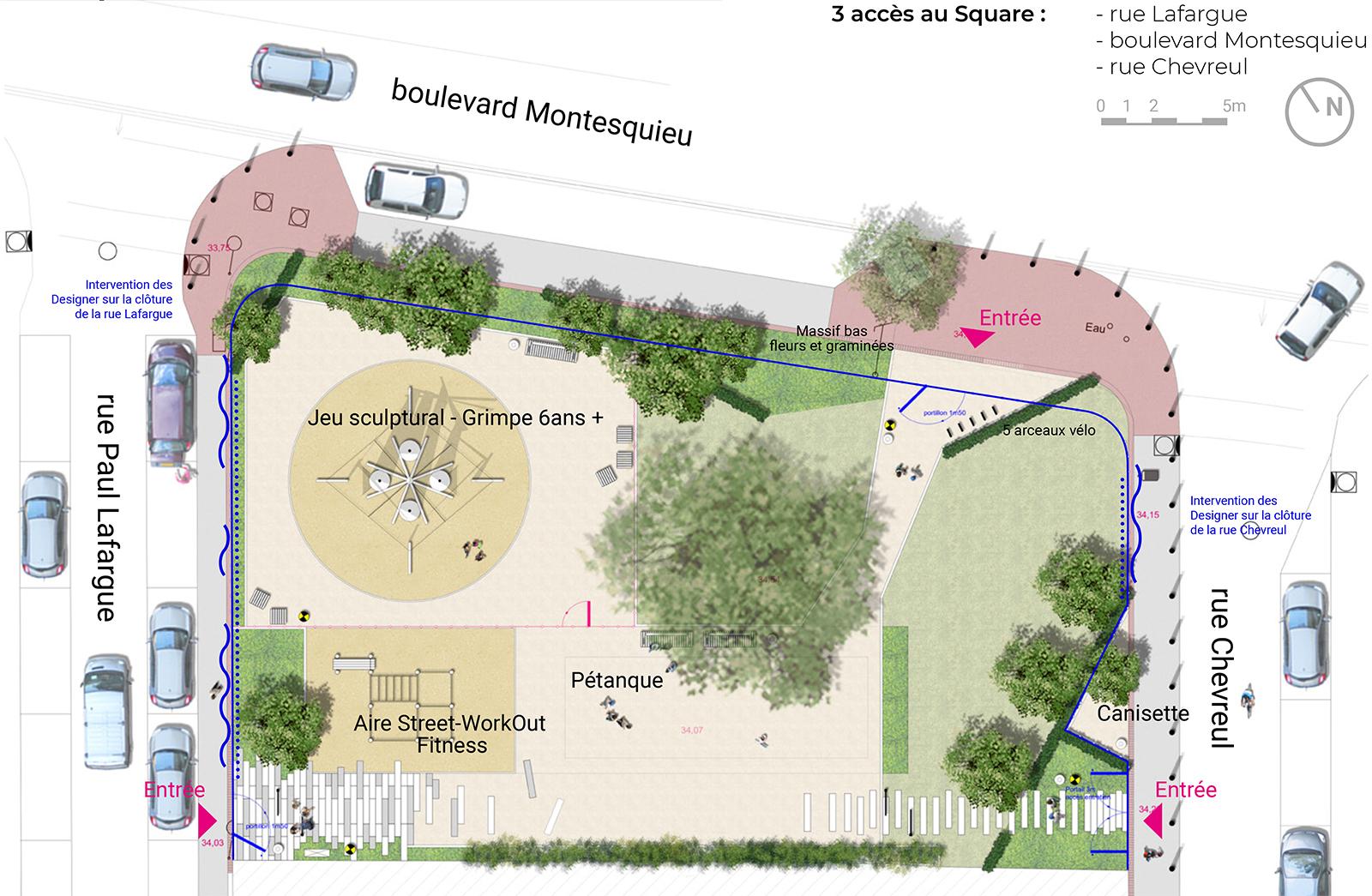 plan aménagements paysagers espaces publics square missant