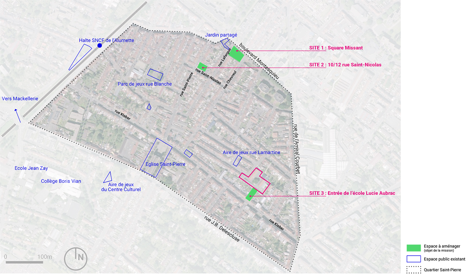 Localisation des projets Saint-Pierre Croix