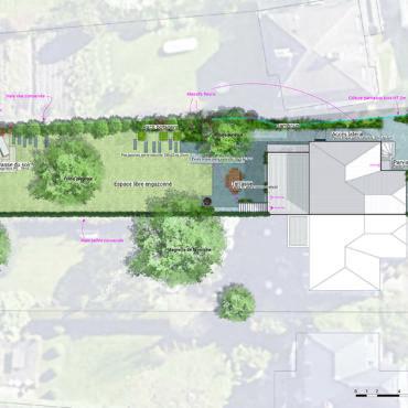 plan masse aménagement projet paysager jardin particulier mouvaux
