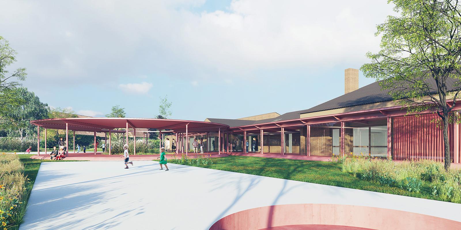perspective projet cour école Pasteur Lompret