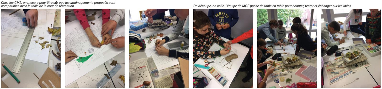 photos atelier co-conception projet paysager cour école avec les enfants école dessin