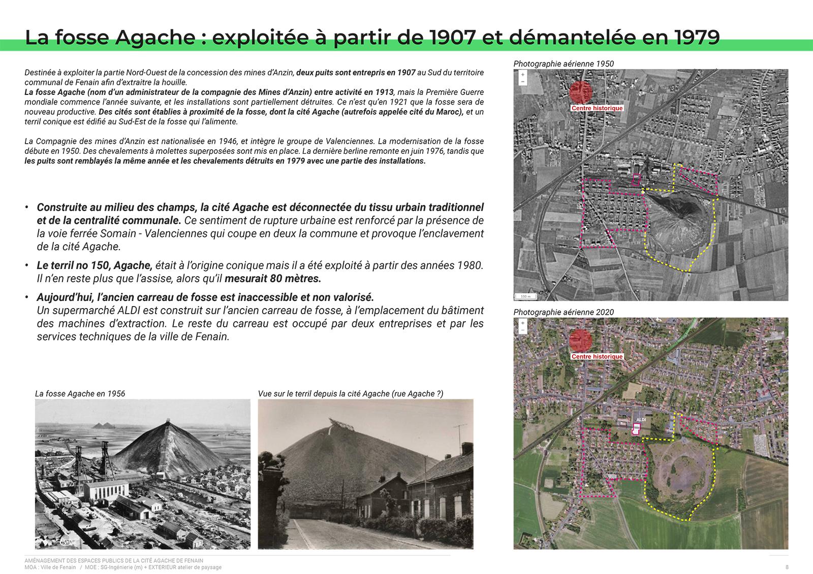 Extrait du dossier de présentation de l'avant projet (AVP) - Histoire de la Cité Agache