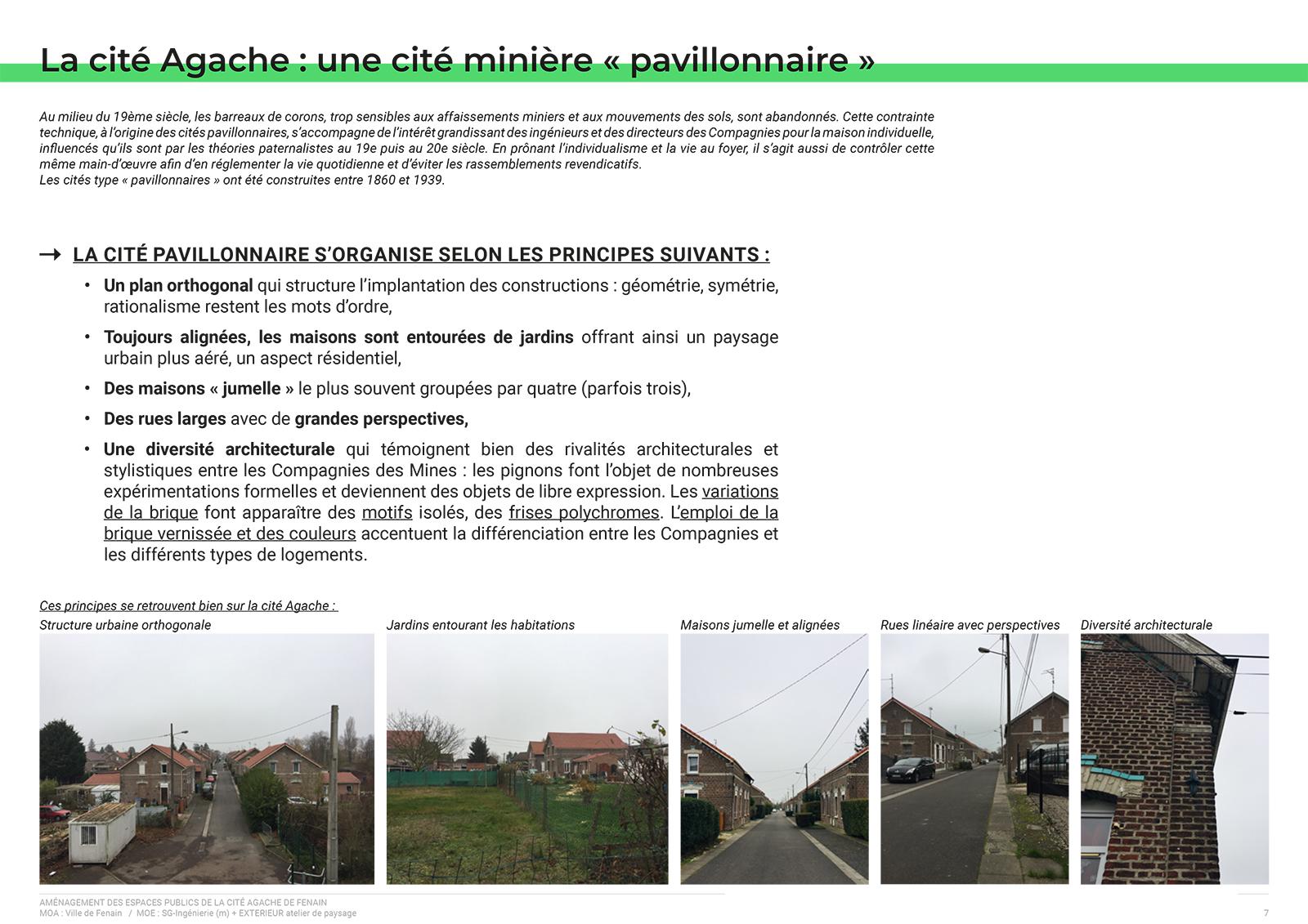 Extrait du dossier de présentation de l'avant projet (AVP) - Organisation de la Cité Agache